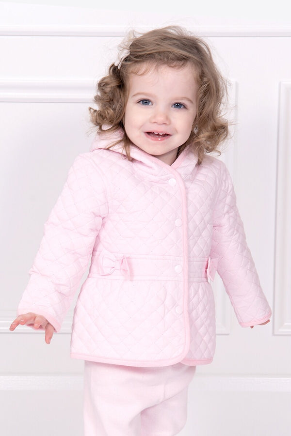 Mintini Pink Quilted Hooded Jacket