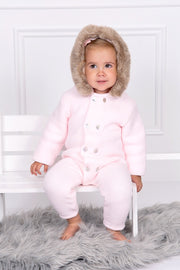 Pink Knitted Pramsuit