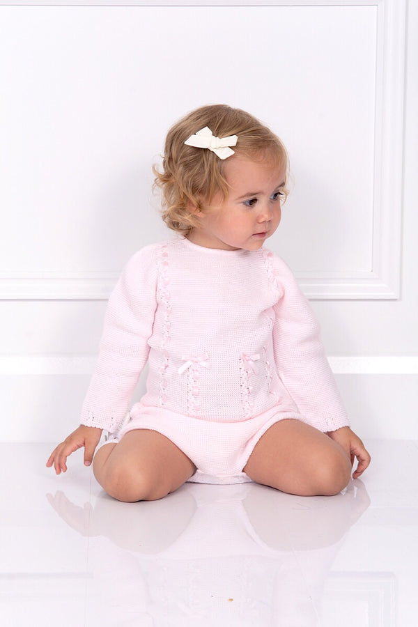 Jacob Matthews Pink Ribbon Slot Bow Outfit