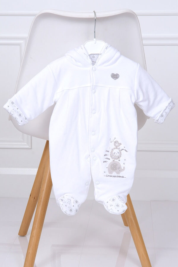 Little Elephant White Pramsuit