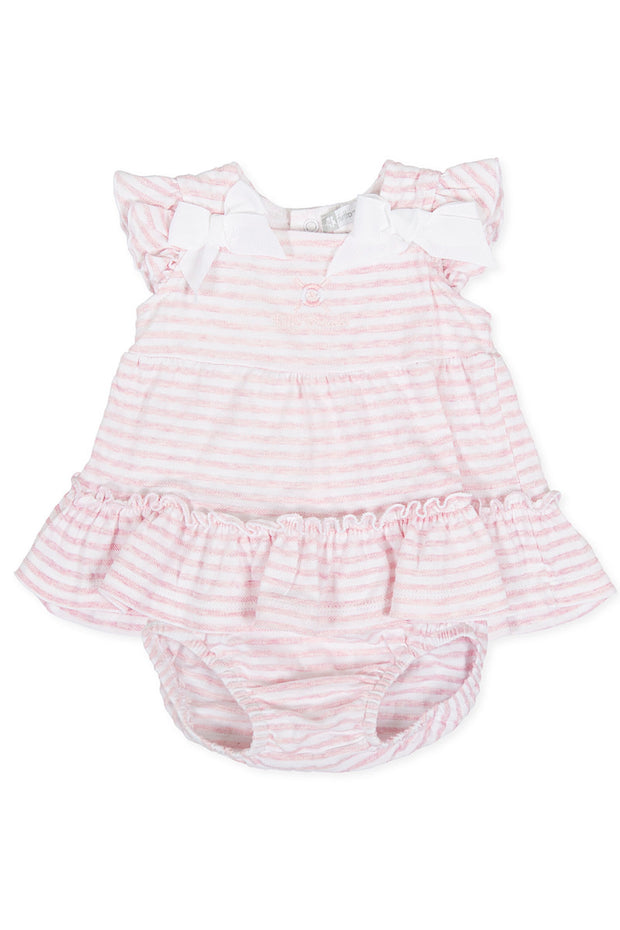 Pink Stripe Dress And Bloomers