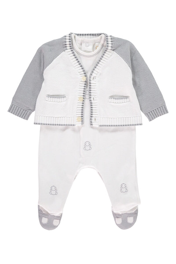 e6b0c7f86aa Emile Et Rose Grey And White Bear All In One ...