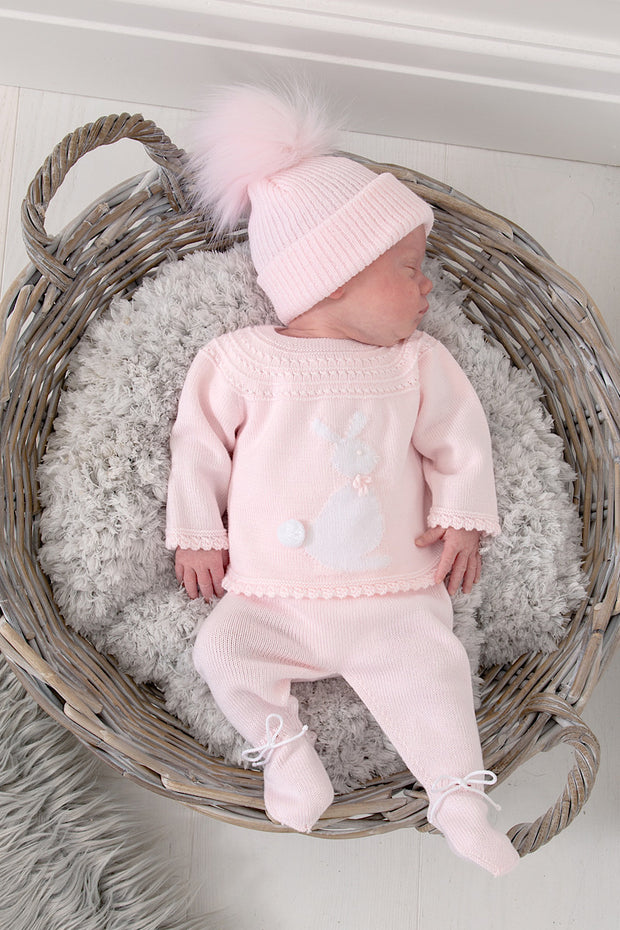 Pink Knitted Bunny Outfit