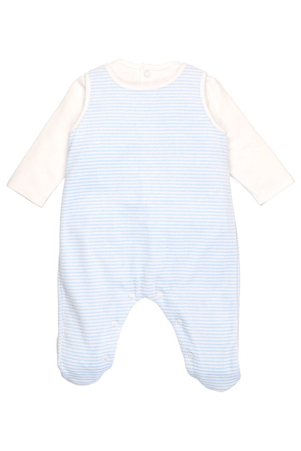 Blue Rocking Horse Dungaree With Rattle