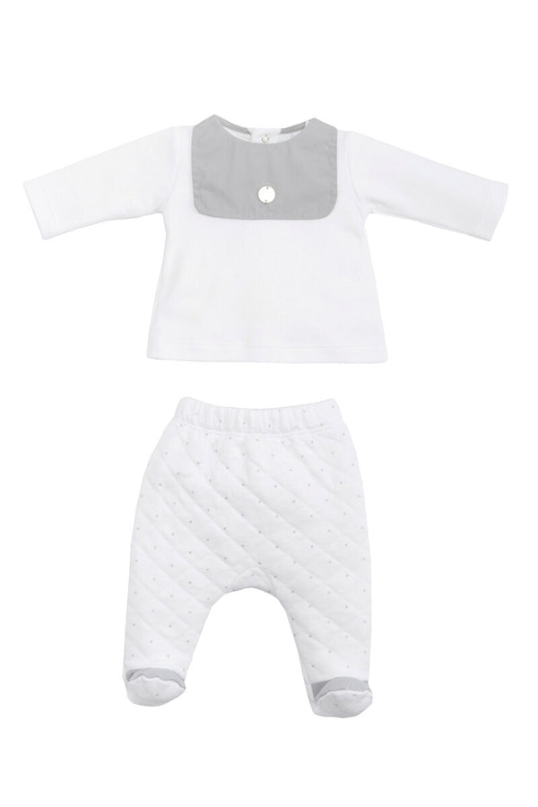 Laranjihna White And Grey Two Piece Set