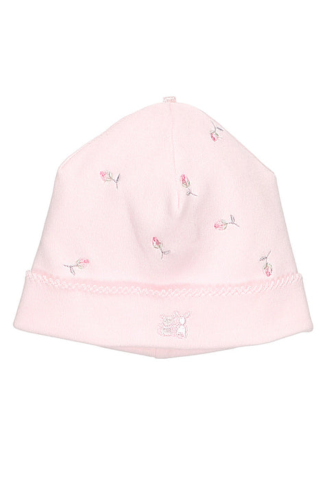 Pink Rosebud Embroidered All In One And Hat