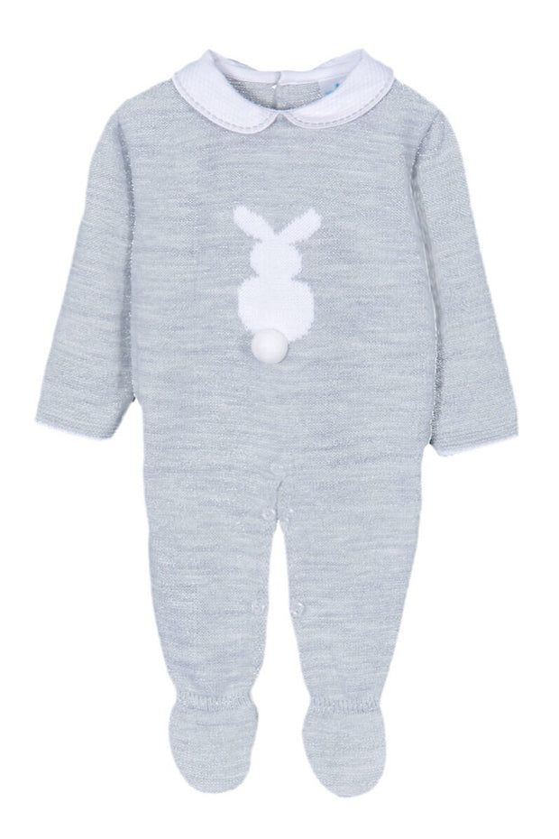 Grey Bunny Knitted All In One