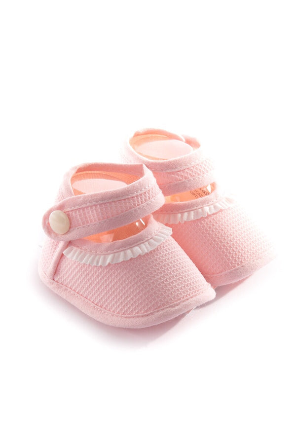 Pex Pink Frill Textured Booties