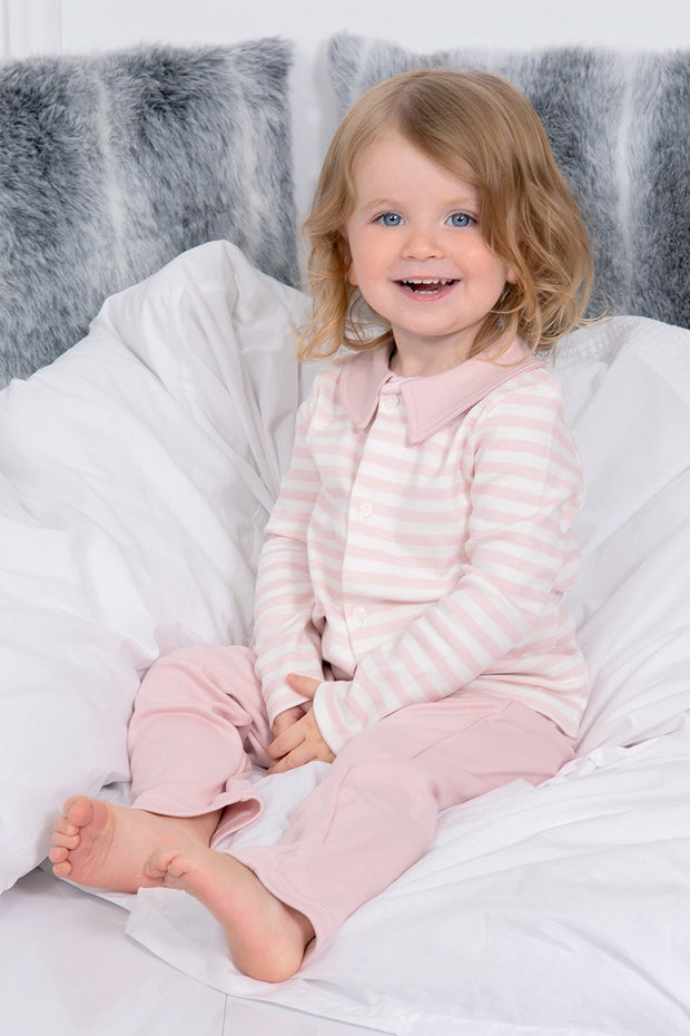 Pink and White Stripe Pyjamas