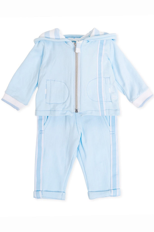 Blue Stripe Lined Tracksuit
