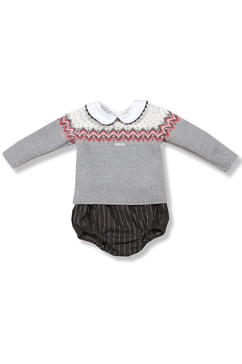 Foque Grey Fairisle Design Outfit