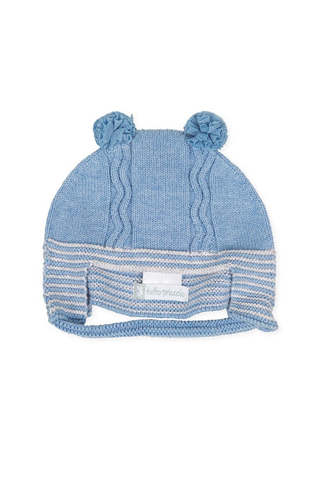 Blue Knitted Stripe Hat