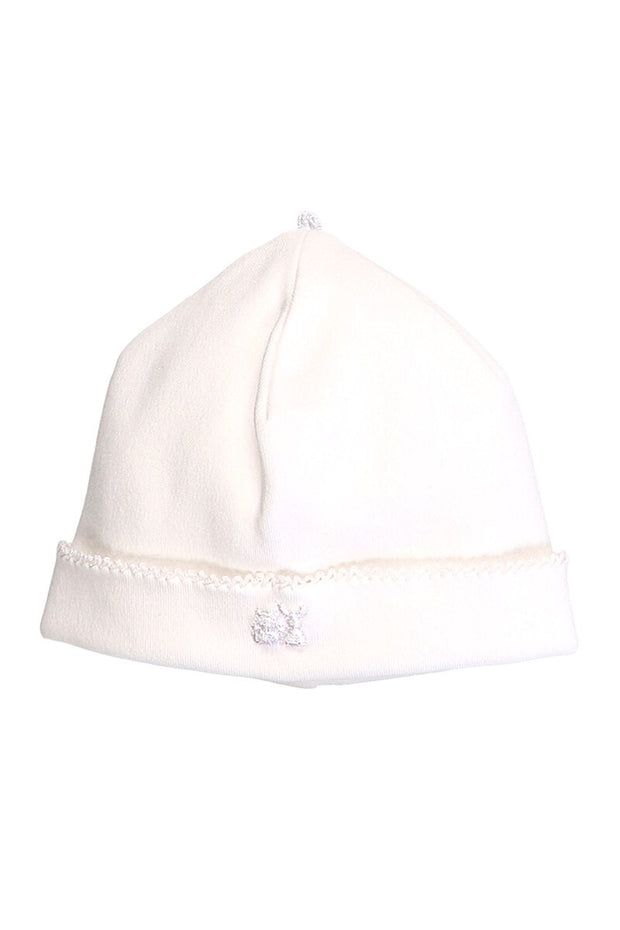 White Traditional Pleat All In One With Hat