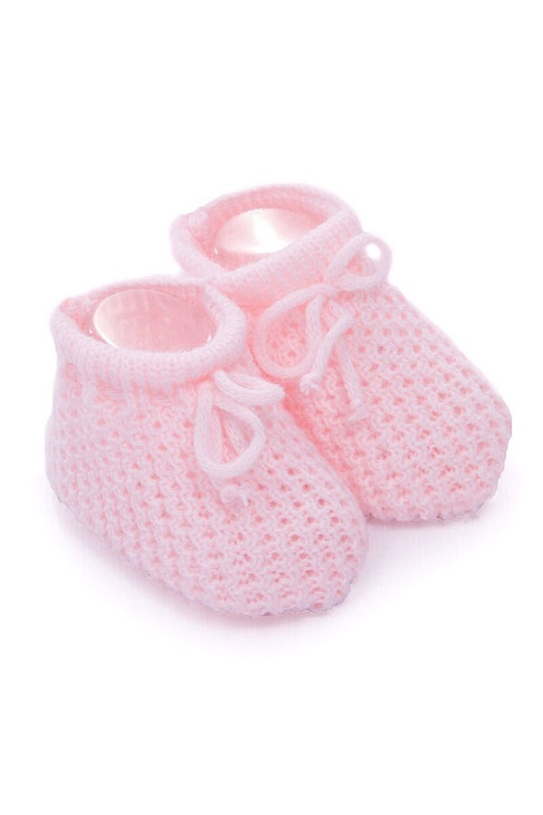 Pink Knitted Booties