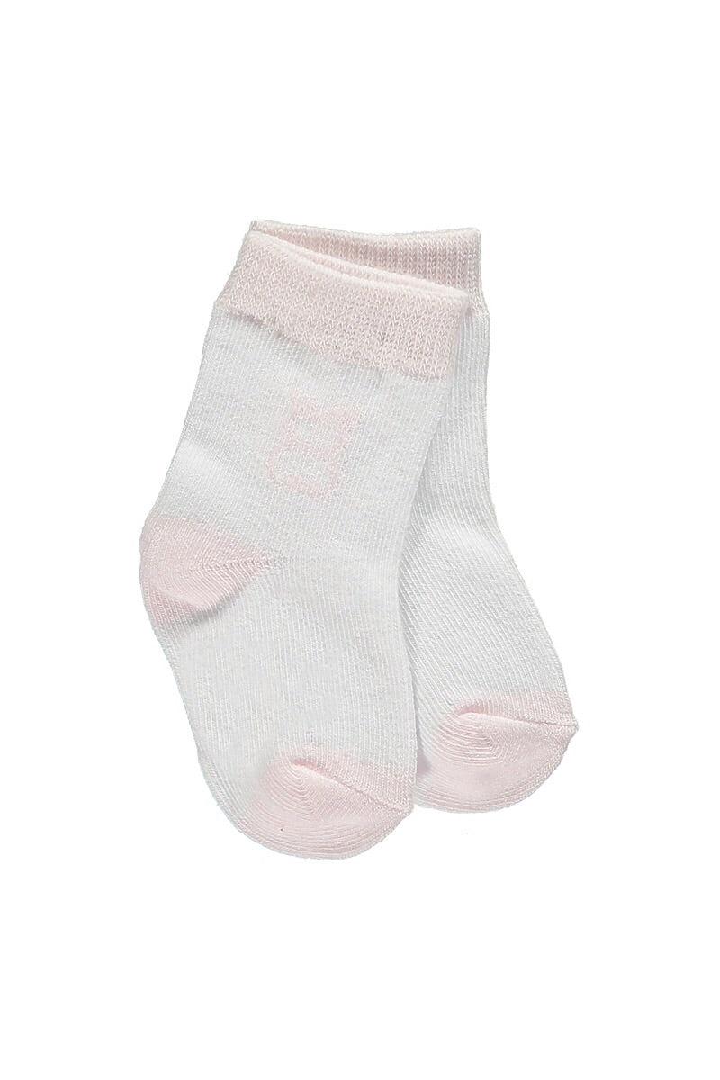 Emile Et Rose Pink And White Bear Socks