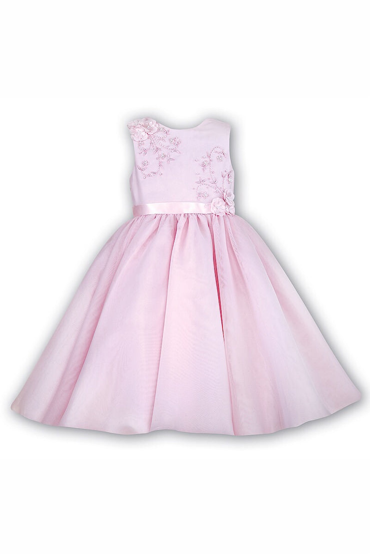Sarah Louise Pink Tulle Beaded Dress