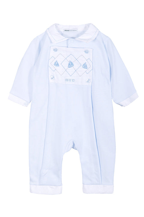 Blue Sailboat Panel Outfit