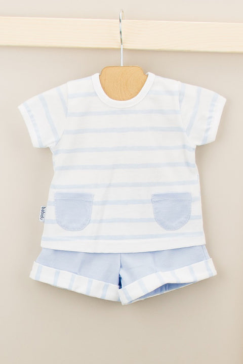 Blue Stripe Pocket Outfit