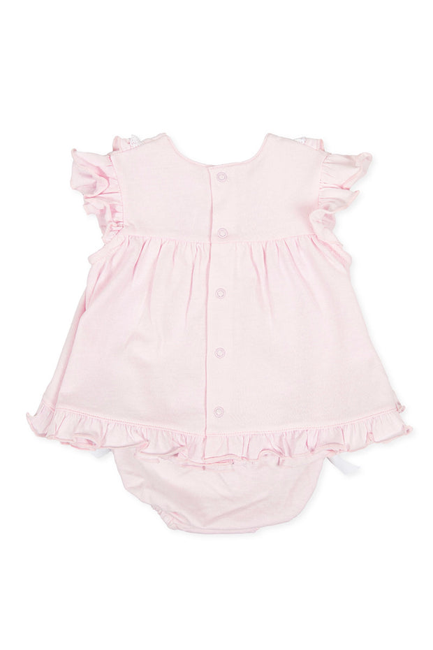 Pink Frill Dress And Bloomers