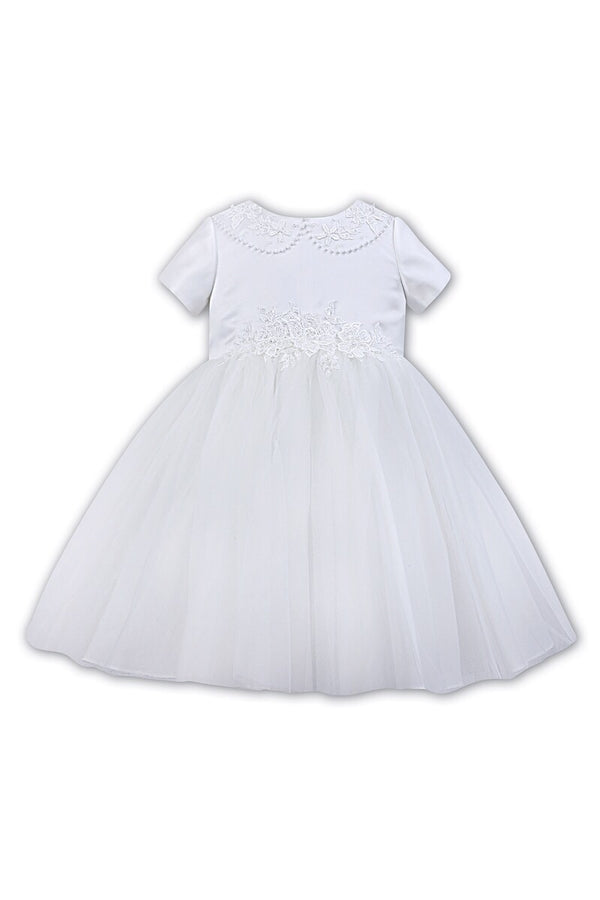 Sarah Louise White Flower Laced Detail Ballerina Dress