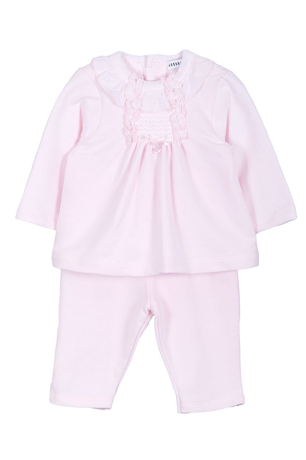 Pink Smocked Panel Outfit