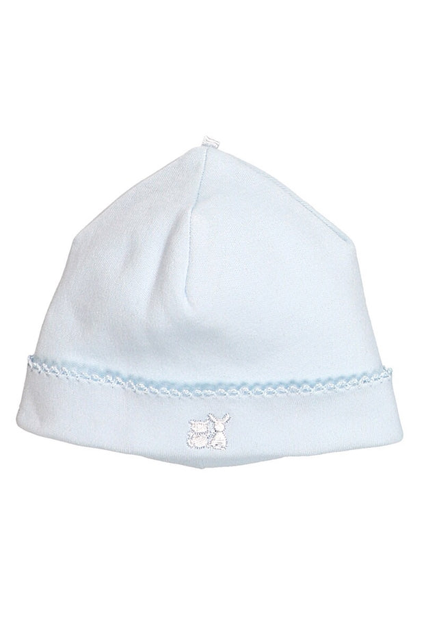 Blue Cotton Pleat All In One With Hat