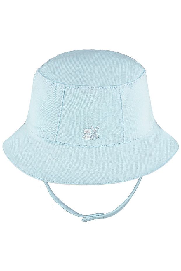 Blue Pleat Top, Shorts And Hat