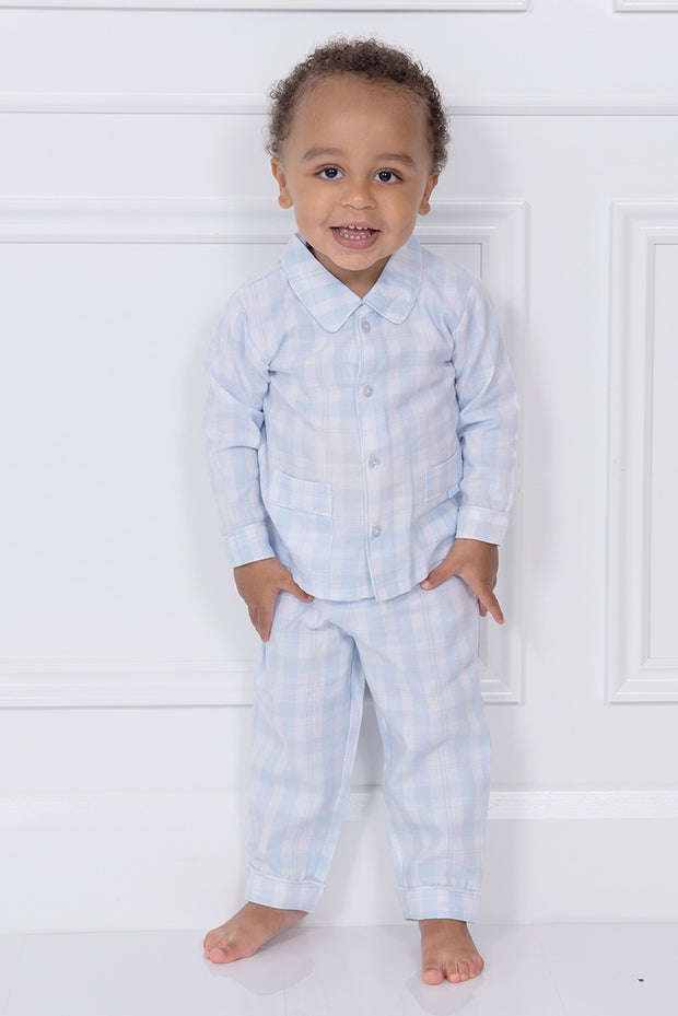 Blue Checked Pocket Pyjamas