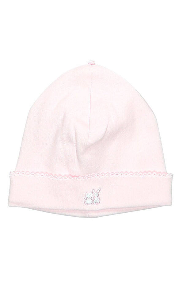 Pink Large Bow Embroidered All In One With hat