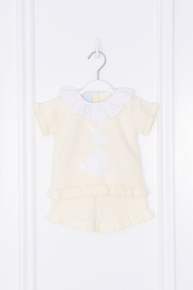 Lemon Frilled Bunny Two Piece Set