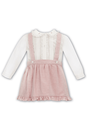 Ivory And Pink Lace Outfit - Jacob Matthews