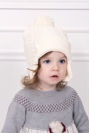 Ivory Cable Knitted Hat - Jacob Matthews