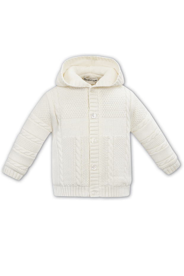 Ivory Knitted Cable Jacket - Jacob Matthews