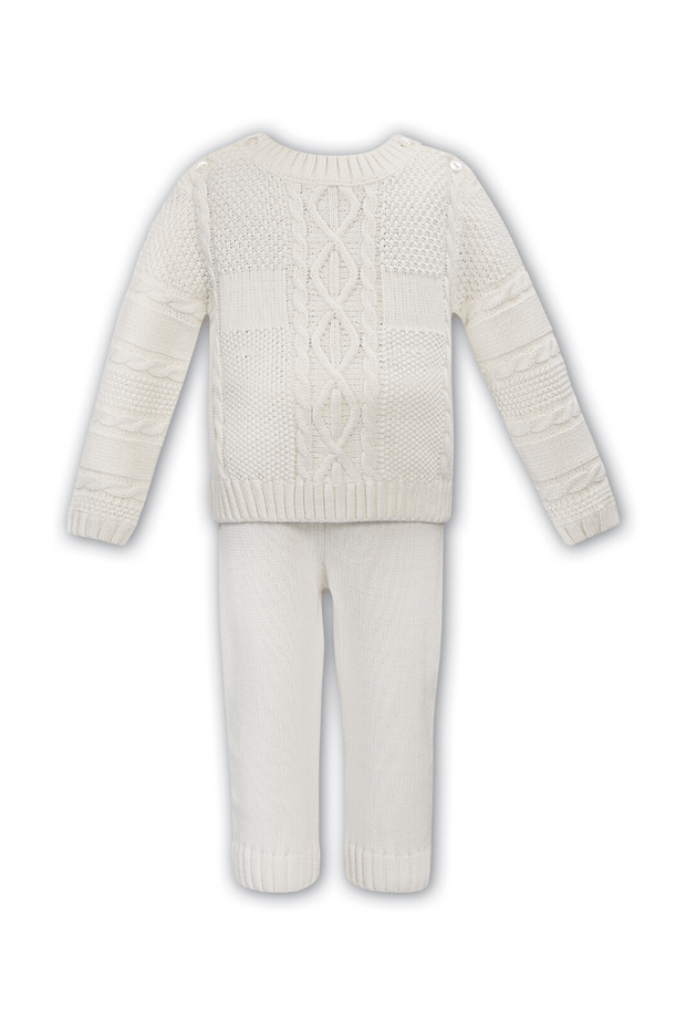 Ivory Knitted Cable Outfit - Jacob Matthews