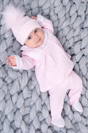 Pink Knitted Smocked Outfit