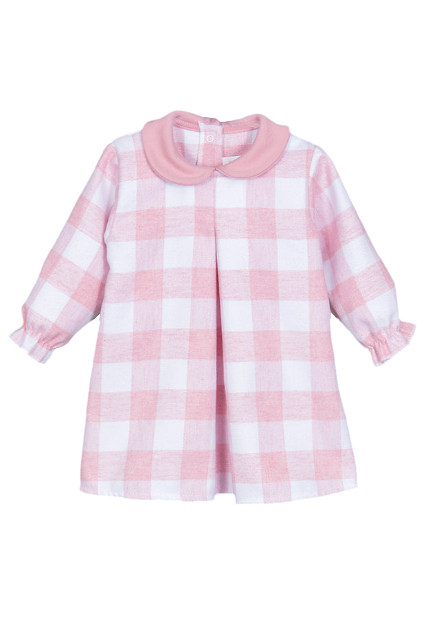 Pink And White Checked Dress