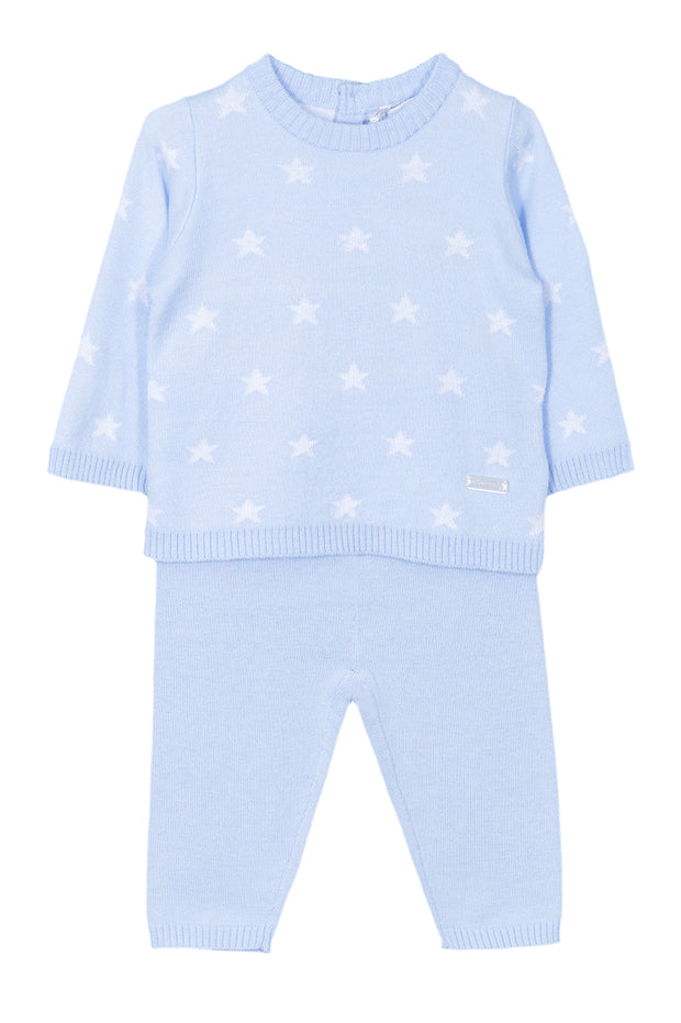 Blue Star Knitted Outfit