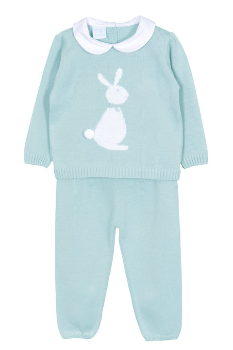 Mint Knitted Bunny Tracksuit - Jacob Matthews