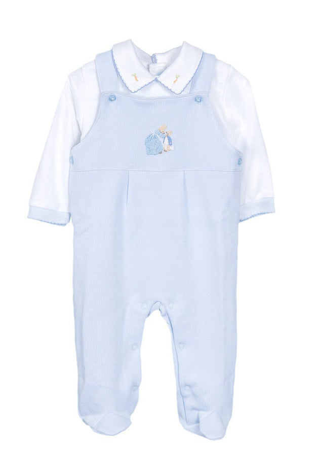 Peter Rabbit Knitted Dungarees With Bodysuit - Jacob Matthews