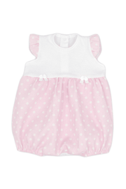 Pink Dot Bow Romper - Jacob Matthews