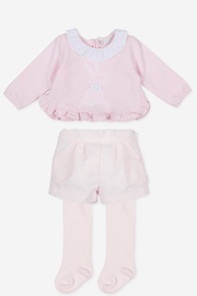 Pink Embroidered Three Piece Outfit - Jacob Matthews
