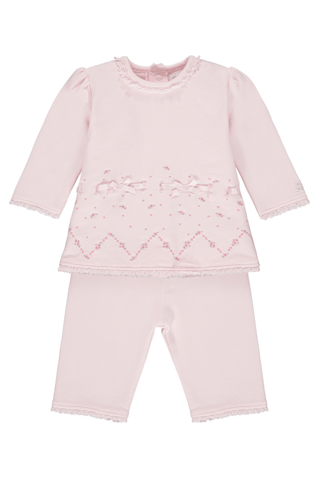 Pink Embroidered Two Piece Outfit - Jacob Matthews