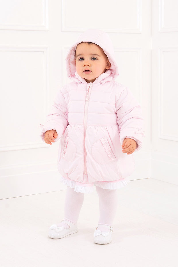 Pink Padded Bow Coat - Jacob Matthews