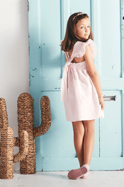 Pink Ruffle Bow Tie Dress - Jacob Matthews