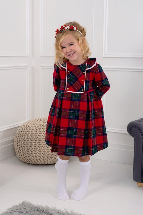 Red Tartan Dress - Jacob Matthews