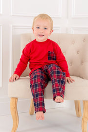 Red Tartan Pocket Pyjamas - Jacob Matthews