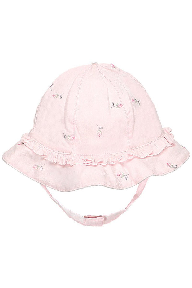 Rosebud Embroidered Sunhat - Jacob Matthews
