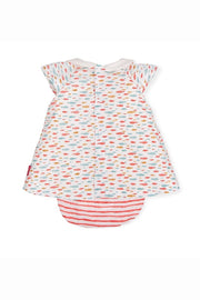Stripe Pattern Dress And Bloomers - Jacob Matthews