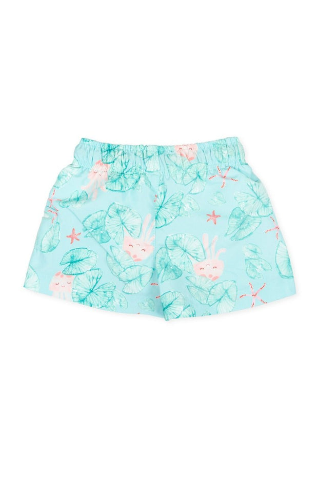 Teal Print Swim Shorts - Jacob Matthews