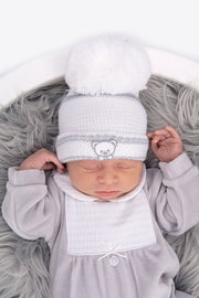 White And Grey Bear Hat - Jacob Matthews